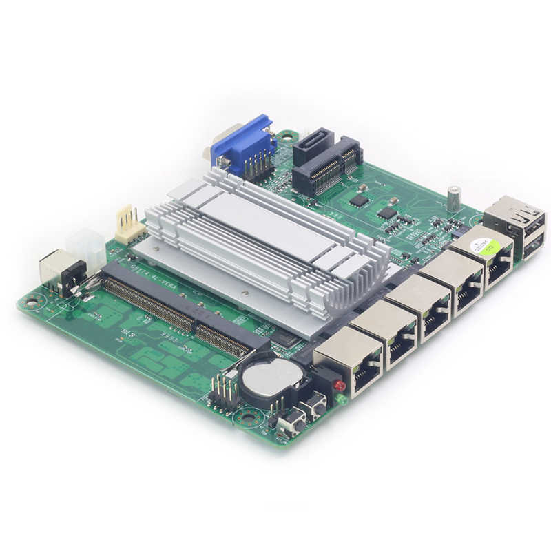 Mini ITX Motherboard Intel Celeron J1800 4x 1000Mbps Intel 211AT Gigabit Ethernet USB VGA RJ45 Firewall Router Appliance Pfsense