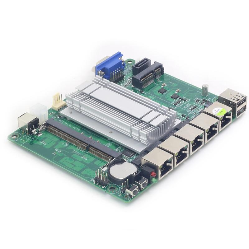 Mini itx placa-mãe intel celeron j1800 4x1000 mbps intel 211at gigabit ethernet usb vga rj45 firewall roteador aparelho pfsense
