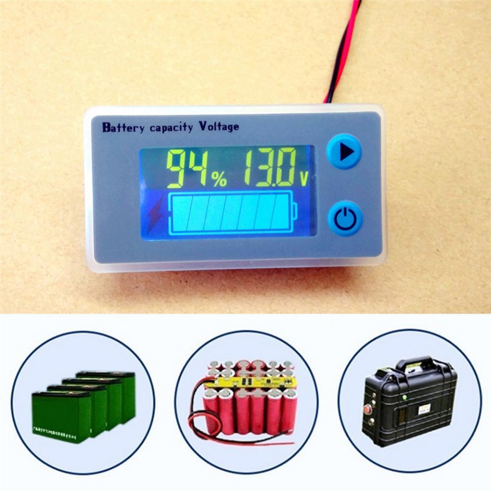 LCD Digital Voltmeter Ammeter 10-100V Car Acid Lead Lithium Battery Capacity Volt Voltage Current Meter Tester Monitor Detector