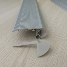 22pcs of 1meter stair profile  ,light down aluminium channel with milky cover