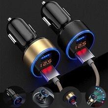 3.1A Dual USB Car Charger 2 Port LCD Display 12-24V Cigarette Lighter Socket
