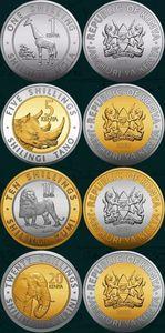 Набор 4 шт кенийские монеты Африка 100% настоящая оригинальная коллекция монет новое издание