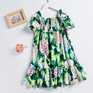 Image 2 - Beenira vestido de verano para chicas, sin mangas, estampado de flores, estilo europeo y americano, Dresses4 14Y, 2020