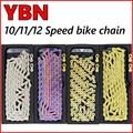 YBN 10/11/12 цепь для скоростного велосипеда объект соглашения о качестве предоставляемых услуг H11-TIG золото Титан покрытие MTB дорожный велосипед...