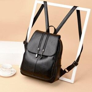 Image 3 - 2019 Kadın Deri Sırt Çantaları Yüksek Kaliteli seyahat omuz çantası Kadın Sırt çantası Vintage Sırt Çantası Bayanlar Kesesi Dps Kadın Sırt Çantası