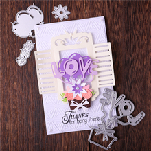 Eastshape Love Letter Dies Flower Balloon Metal Cutting New 2020 Craft Scrapbooking Valentines Day