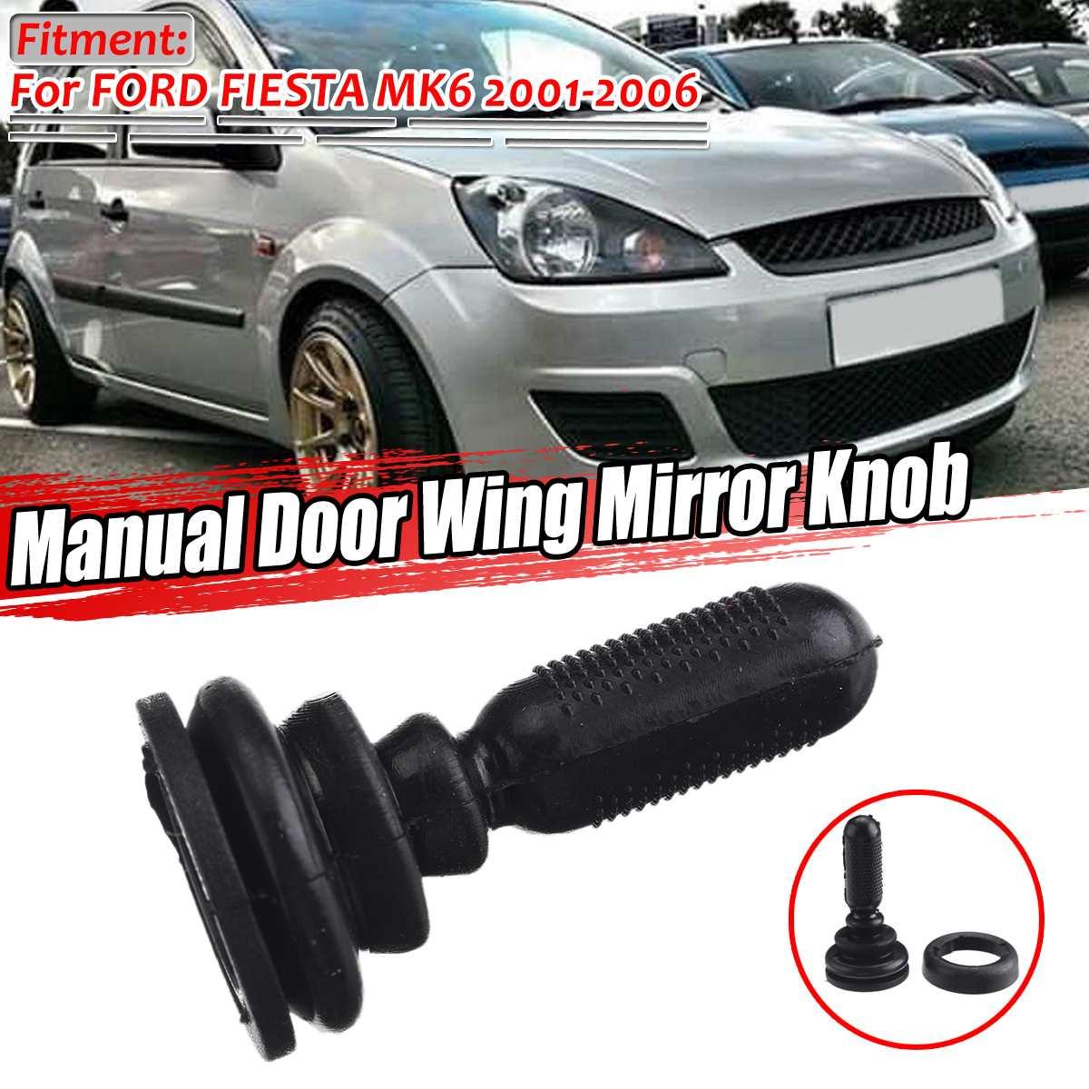 Manopla de espelho retrovisor para ford, botão esquerdo ou direito para fiesta mk6 2001-2006 1507431