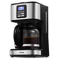 카페 아메리칸 커피 머신 lcd 디스플레이 전기 커피 메이커 완전 자동 드립 타입 고용량 예약 절연