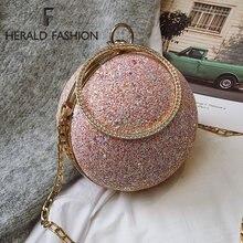Модные вечерние сумки с круглыми цепочками дизайнерские женские