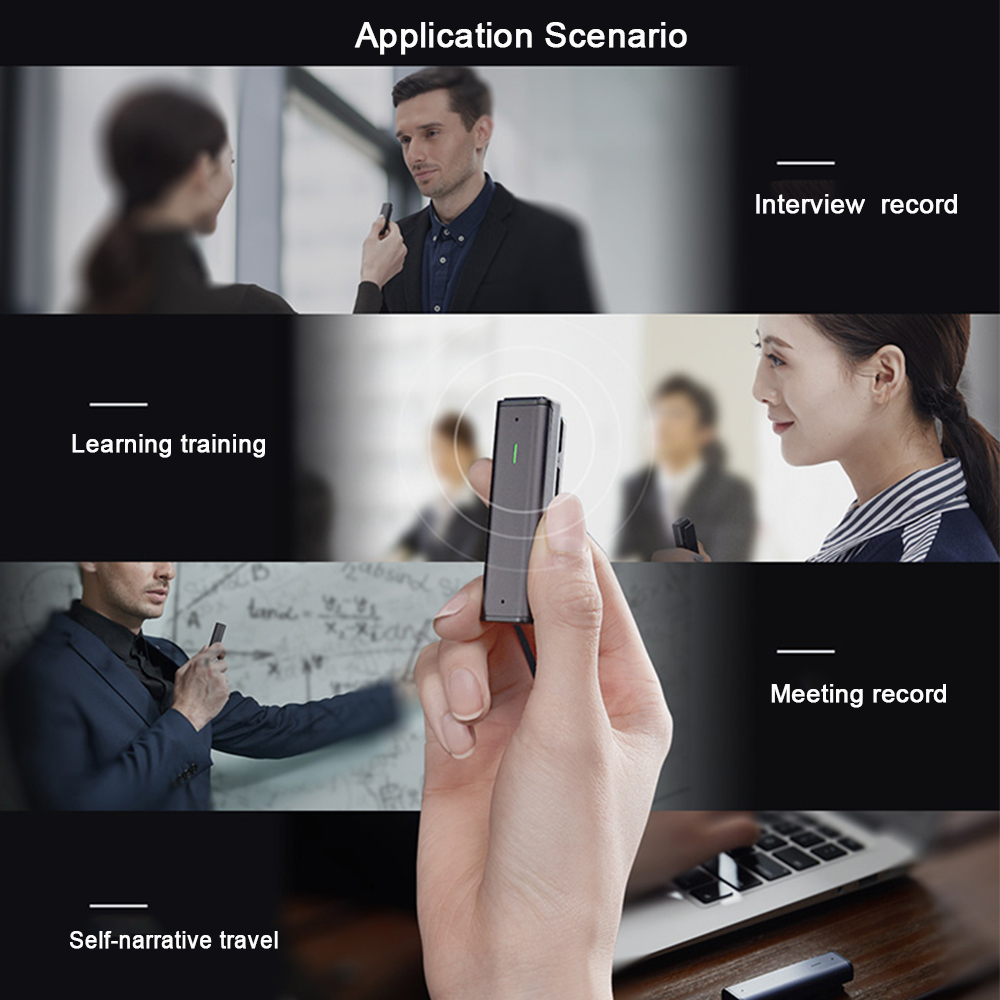 Voice Recorder Sogou Digital Intelligent Microphone Portable Professional HD Noise Reduction Recorder Pen translator for Meeting - 4