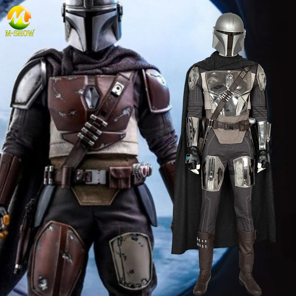 The Mandalorian Cosplay Costume Star Wars Mandalorian Cosplay Outfit  Adult For Halloween Party