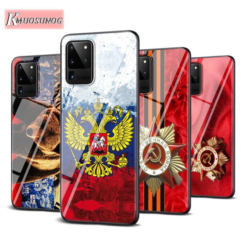 Russia Russian Flags Emblem For Samsung Galaxy Note 10 Lite S20ultra S20 Plus A01 A21 A51 A71 A81 A91 Super Bright Phone Case