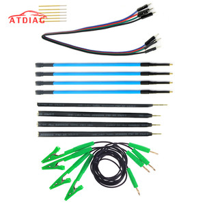 4pcs/Set Probe Pens 4pcs Pins With Connect Cable Replacement LED BDM FRAME OBD2 Programming For KTAG/KESS ECU Board(China)