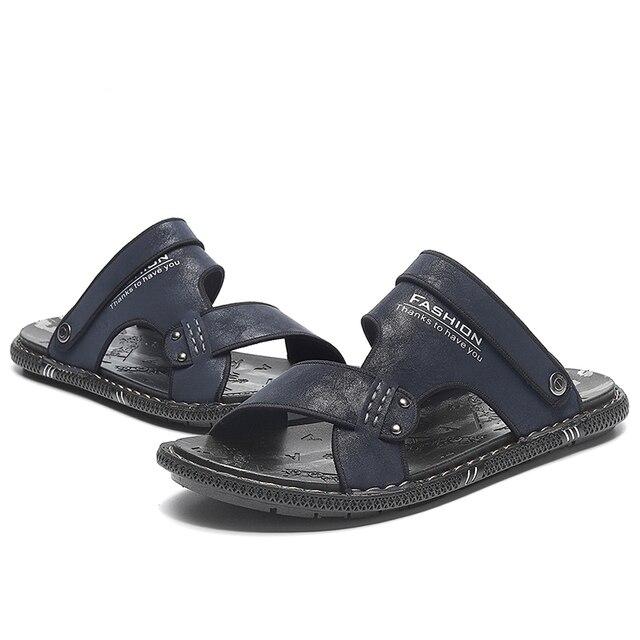 модные летние шлепанцы tantu для мужчин дышащие уличные сандалии фотография