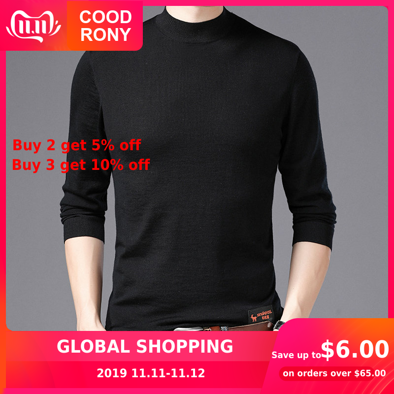 COODRONY Brand Sweater Men Fashion Turtleneck Pull Homme Autumn Winter New Merino Wool Sweaters Warm Cashmere Pullover Men 93007