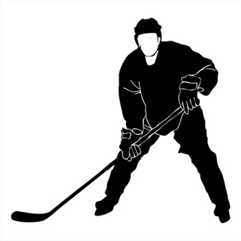 18x16cm hockey Sportman athlete Lover Boy Stickers Car Window Glass Body Decoration Decal Accessories CL312 image