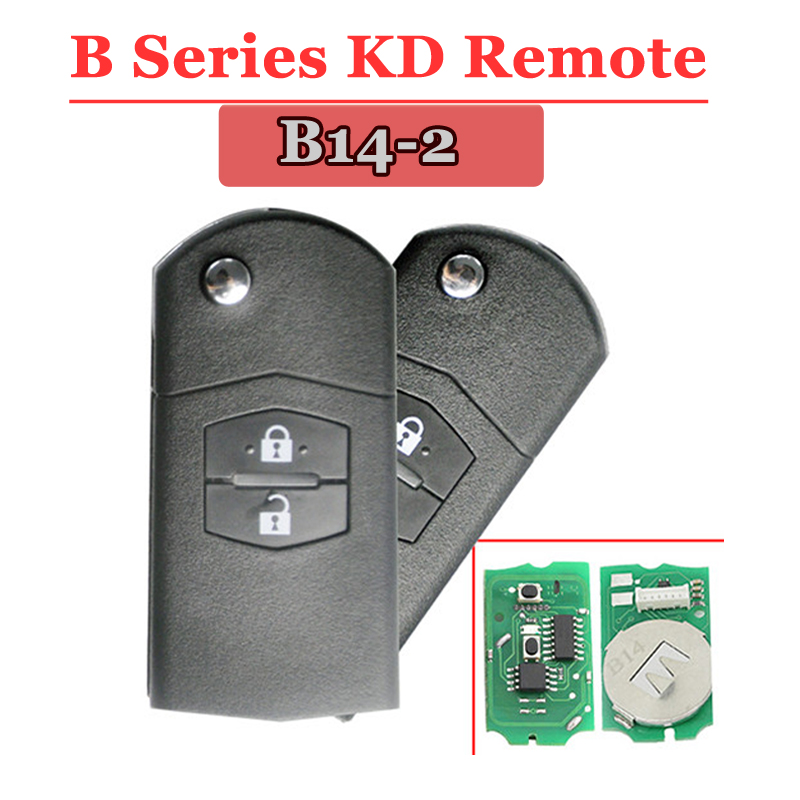 Free shipping (1 piece)B14-2 KD Remote Key 2 button remote B series key for kd900 urg200 remote master