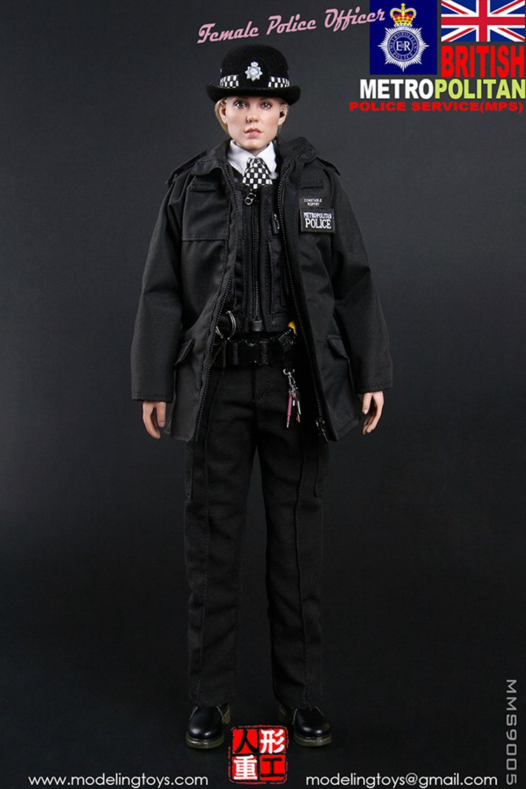 1//6 MMS9005 BRITISH METROPOLITAN POLICE SERVICE MPS FEMALE POLICE Vest Model