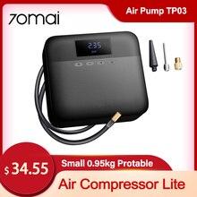 70mai araba hava kompresörü Lite araba oto lastik dijital şişirme taşınabilir elektrikli hava pompası 11 Bar motosikletler bisiklet Midrive TP03