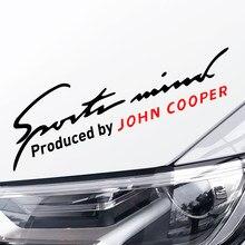 Auto lámpara con pegatinas de cejas para Mini Cooper S John Cooper Works R50 R52 R53 R55 R56 R57 R58 R59 R60 R61 F55 F56 socio compatriota