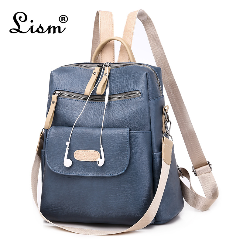 Women's Backpack 2020 New Luxury High Quality Large Capacity Bag Fashion Student School Bag Multi Pocket Travel Bag