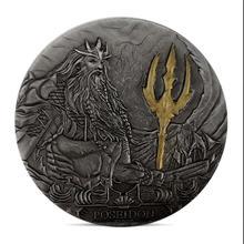 Король Posideon монет серебряные позолоченные монеты металлические подарочные сувениры