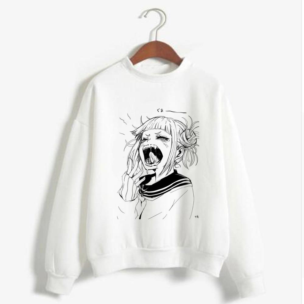 Women Girls Teens Cartoon My Hero Academia Sweatshirt Female Harajuku Anime Boku No Hero Academia Funny Hoodie Cute Pullover Top
