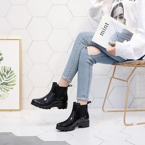 Image 3 - SWYIVY Chelsea Boots Women Ankle Rain Boots 2019 Autumn Fashion Waterproof Non slip Gumd Boots Women Casual Shoes Rainboot