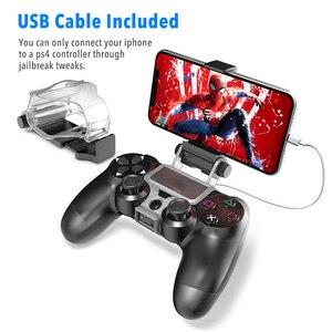 Image 3 - PS4 تحكم قبضة اليد حامل كليب حامل الذكية الهاتف المحمول حامل المشبك جبل قوس غمبد تحكم حامل حامل ل PS4