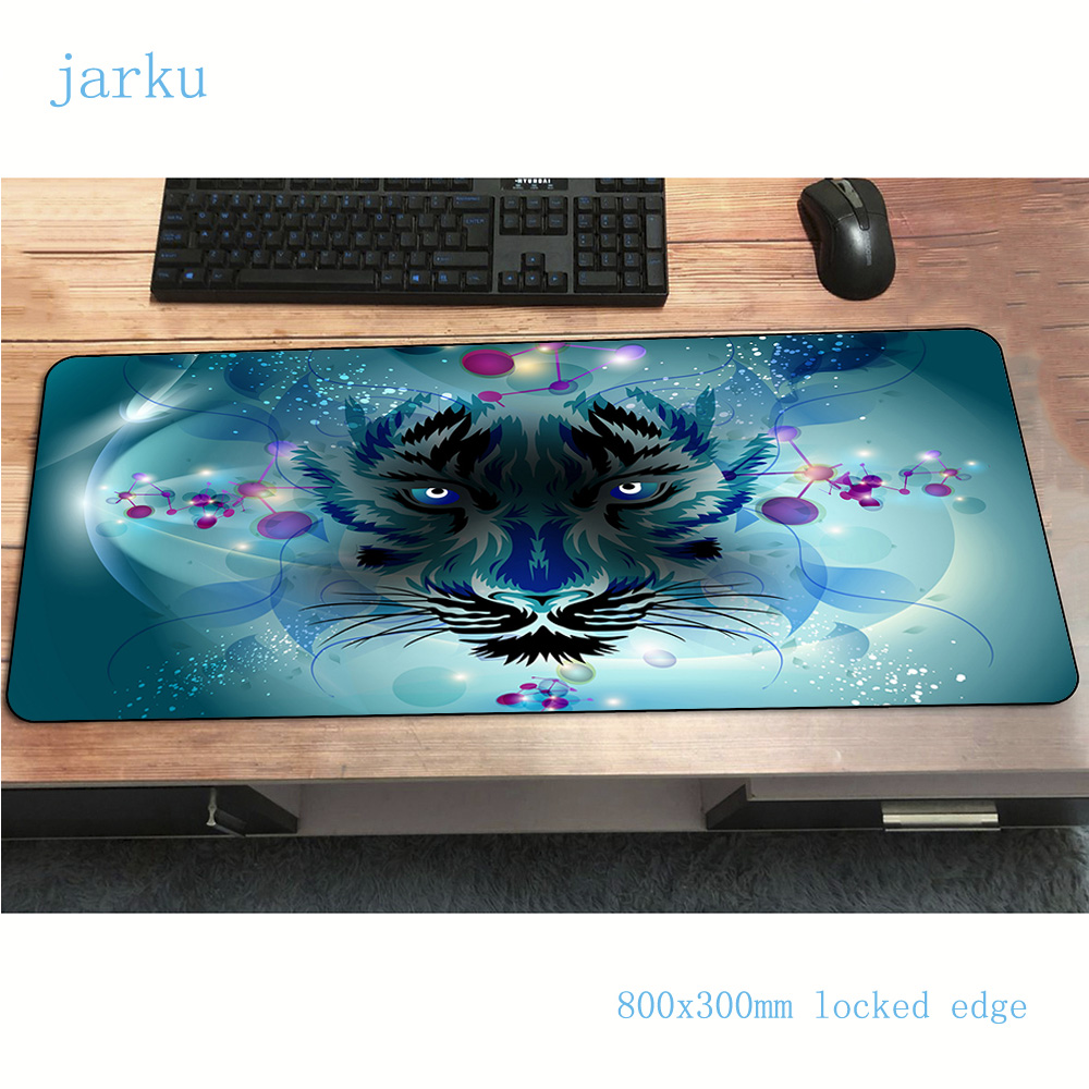 Cats mouse pad gamer Fashion Tiger 800x300x2mm notbook mouse mat gaming mousepad large Kawaii Lion pad mouse desk padmouse mats(China)