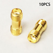 TNC/SMB/MCX Adapter 10pc Connector Gold Color SMA Female To SMA Female High Quality(China)