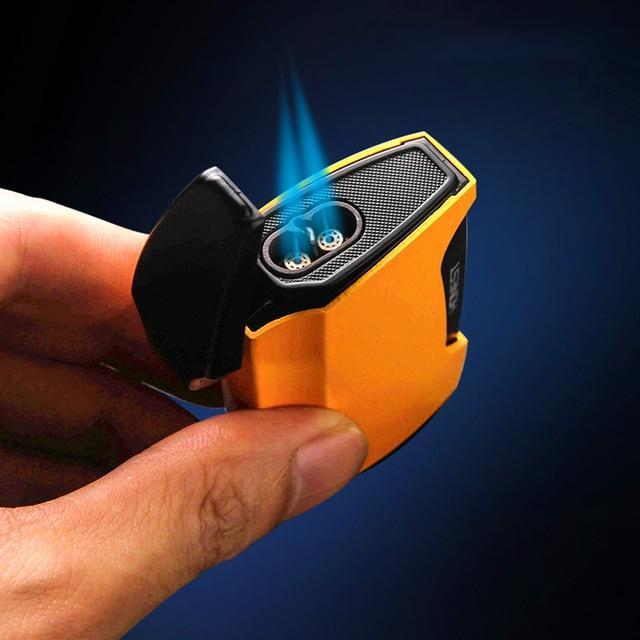 Фото синий зажигалка факела два труба сварочный пистолет с питанием