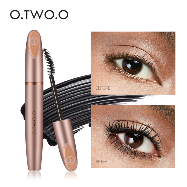 O.TWO.O Not Blooming Mascara Long Lasting Waterproof Slender Fiber Mascara Eye Lash Extension Eyelash Mascara TSLM1