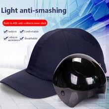 CK Tech. Nefes kask lambası anti çarpışma koruması beyzbol şapkası astar ABS kabuk yumru şapka atölye bisiklet güvenlik kaskları