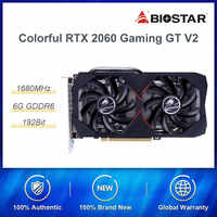 Colorato GeForce RTX 2060 6G GT V2 Scheda Grafica Nvidia GDDR6 GPU Scheda Video Gaming 1365-1680Mhz PCI-E 3.0 placa de video Per Il PC