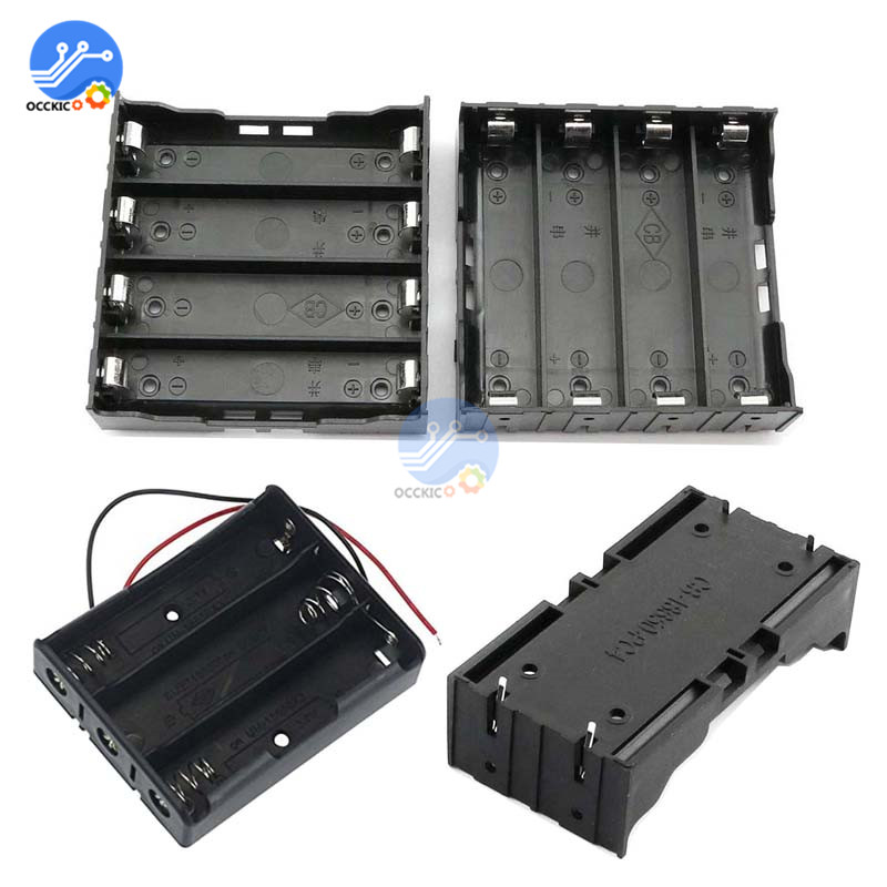 18650 Battery Holder 1X 2X 3X 4X Slot 18650 Power Bank Case Container Battery Storage Box 1 2 3 4 Slot With Pin Or Wire