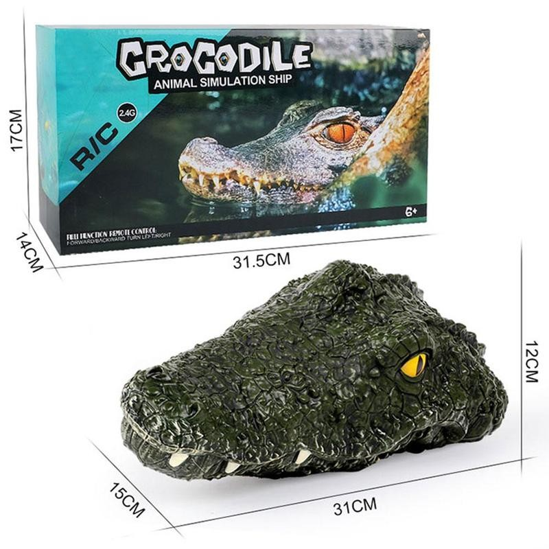 RC Boat Remote Control Boat 2.4G Electric Model Simulation Crocodile Head Vehicles Prank For Kids and Adults Toys