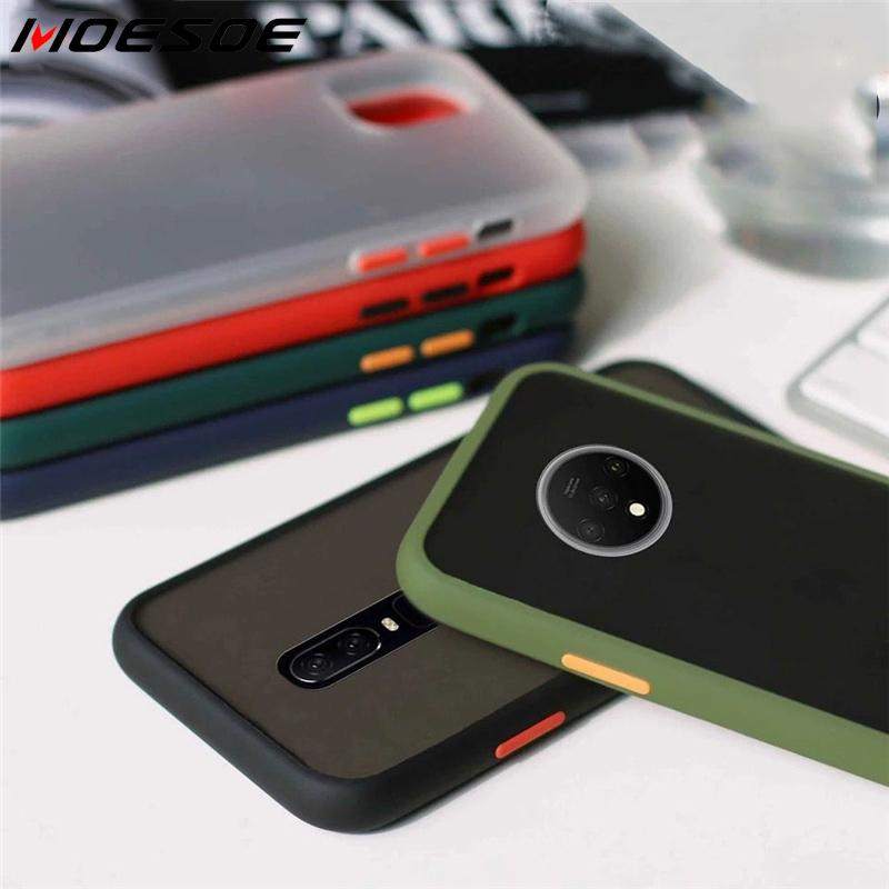 Translucent Matte <font><b>Case</b></font> For <font><b>OnePlus</b></font> 7T 7 Pro 6 <font><b>6T</b></font> <font><b>Case</b></font> Shockproof <font><b>Bumper</b></font> Matte Armor <font><b>Case</b></font> One Plus 7 T 7pro Capa Clear Hard Cover image