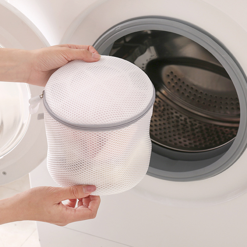 Double-Layer Polyester Laundry Bag White Washing Machine Special Anti-Deformation Wash Bag Small Fine Mesh Underwear Mesh Bag