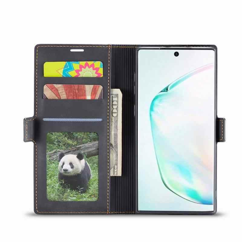 Funda para Samsung Galaxy Note 10 Plus fundas lujosas magnéticas Flip Plain billetera mate bolsa de teléfono para Samsung Note 10 Plus Etui