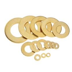 M3 M4 M5 M6 M8 M10 M12 M14 M16 M20 Meson Pad Copper Sheet Metal Collar Brass Disc Flat Washer Gasket Ring M3x6x0.5 M5x10x0.8