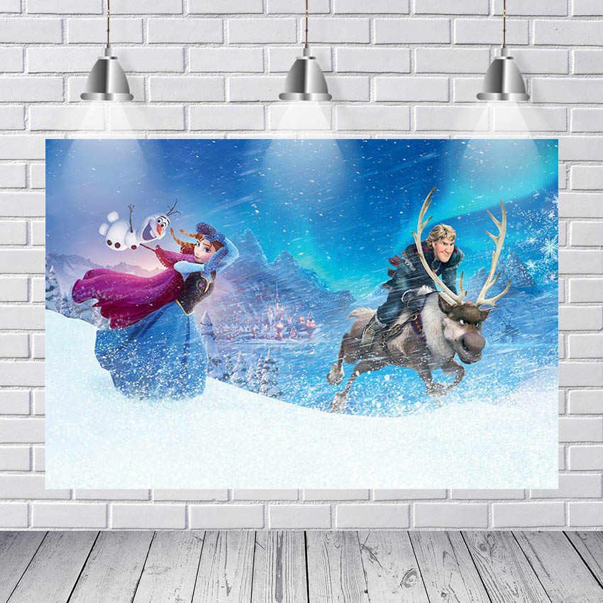 Nieuwe Bevroren 2 Paleis Kasteel Anna Princess Queen Elsa Olaf Custom Fotostudio Fotografie Achtergrond Vinyl Banner