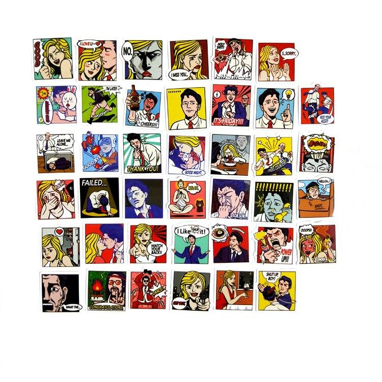 40pcs/pack Pop Art Hand Waterproof Account Sticker Decorative Sticker DIY Diary Scrapbooking Index Seal Stickers