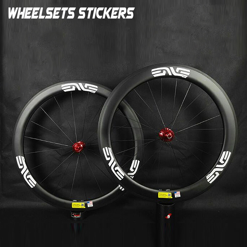SYSTEM CARBON BIKE BICYCLE RIM DECALS STICKERS SET FOR TWO WHEELS 700C