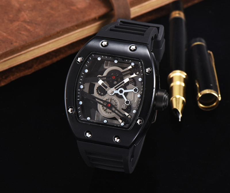 Dual Silver  Time Display Business Watches For Men Red Steel Strip Sport Quartz Chronograph Watch Dz Style Relogio Masculino