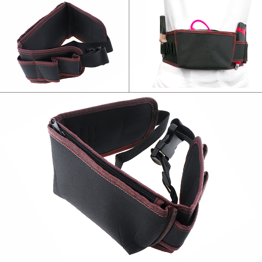 Multifunctional Durable Waterproof Waist Tool Bag With 8 Holes And Electric Drill Pocket For Home /Industrial Maintenance