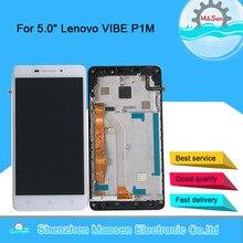 """Orijinal M & Sen 5.0 """"Lenovo VIBE P1M LCD ekran dokunmatik ekranlı sayısallaştırıcı grup için çerçeve ile P1Ma40 P1mc50 Lenovo"""