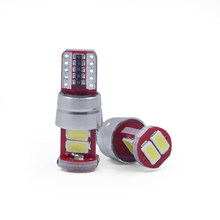 2Pcs Car led Light 5630 6SMD Amber Auto Brake Lights Turn Signal Bulb Car Error Free Car Lights Turn Signal P21W BAY15D 1157(China)
