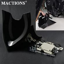 Motorcycle Universal Black Lower Chin Fairing Front Spoiler For Harley Sportster Dyna Fatboy Softail Touring Street Glide FLHR
