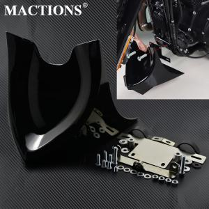 Motorcycle Universal Black Lower Chin Fairing Front Spoiler For Harley Sportster Dyna Fatboy Softail Touring Street Glide FLHR(China)